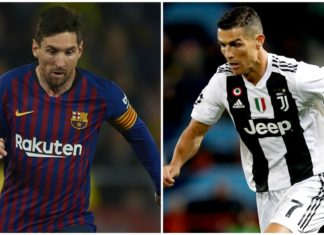 Lionel Messi samai rekor Cristiano Ronaldo di Liga Champions. Mereka telah membobol 33 klub bersama Raul Gonzalez (BBC)