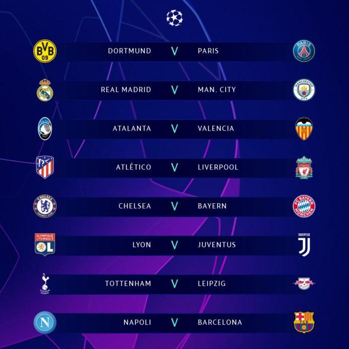 Hasil drawing babak 16 besar Liga Champions 2019-2020 telah dilaksanakan di Nyon, Swiss tepatnya Senin (16/12/2019) pukul 18.00 WIB. 16 tim sudah punya lawan masing-masing dalam perebutan tiket ke babak delapan besar atau perempat final Liga Champions (Twitter/ChampionsLeague)