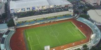 Venue semifinal Timnas Indonesia vs Myanmar di Rizal Memorial Stadium, Manila (Offisial SEA Games 2019)