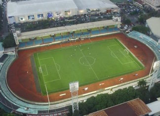 Venue semifinal Timnas Indonesia vs Myanmar di Rizal Memorial Stadium, Manila (Offisial SEA Games 2019)