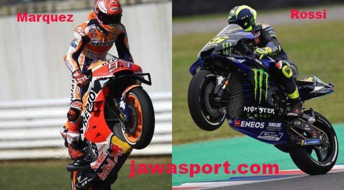 Pembalap MotoGP, Marc Marquez dan Valentino Rossi