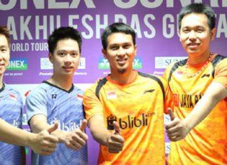 Marcus/Kevin dan Ahsan/Hendra