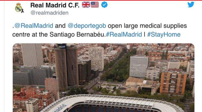 Klub raksasa Liga Spanyol, Real Madrid mengizinkan stadionnya Estadio Santiago Bernabeu digunakan untuk memerangi virus corona di Spanyol (Foto: Realmadrid.com)